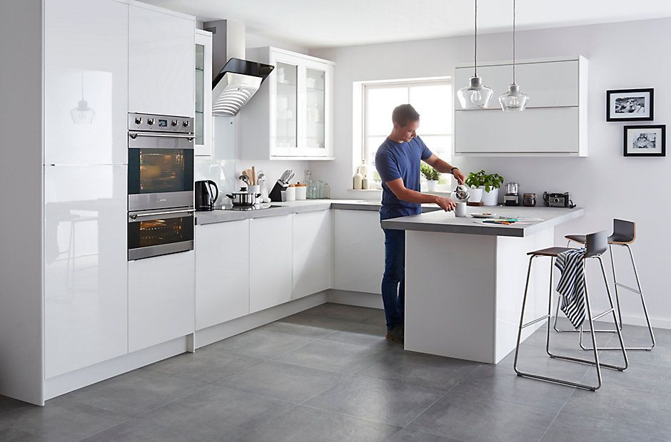 Kitchen doors - IT Santini Gloss White Slab