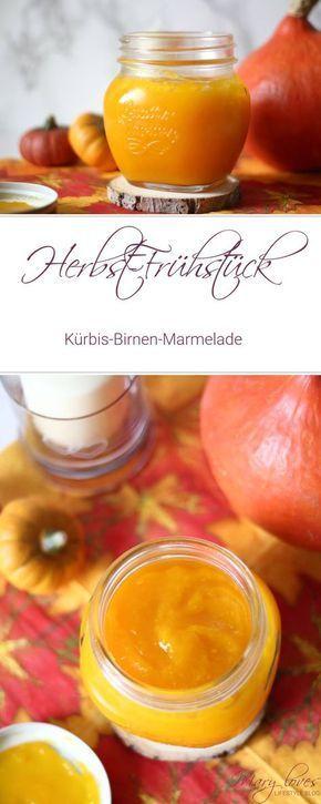 Herbst-Frühstück: Kürbis-Birnen-Marmelade #herbstgerichte