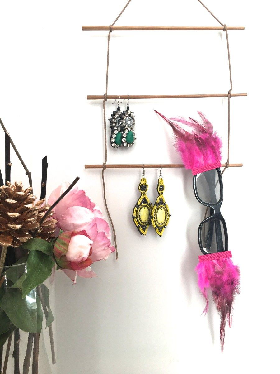 Chopsticks Into Earring Stand Upcycle Diy Re Upcycle