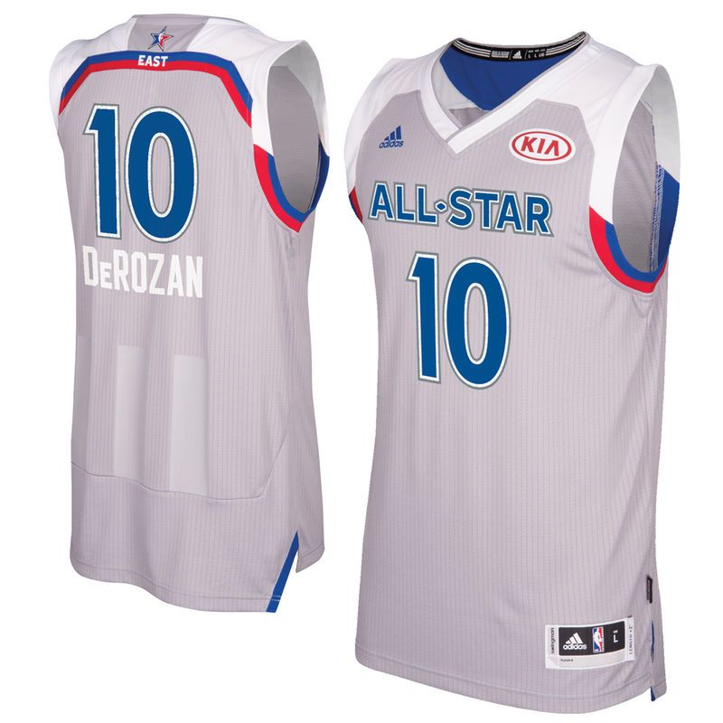 DeMar DeRozan Eastern Conference adidas 2017 NBA All-Star Game Swingman  Jersey - Gray 9216d1f78