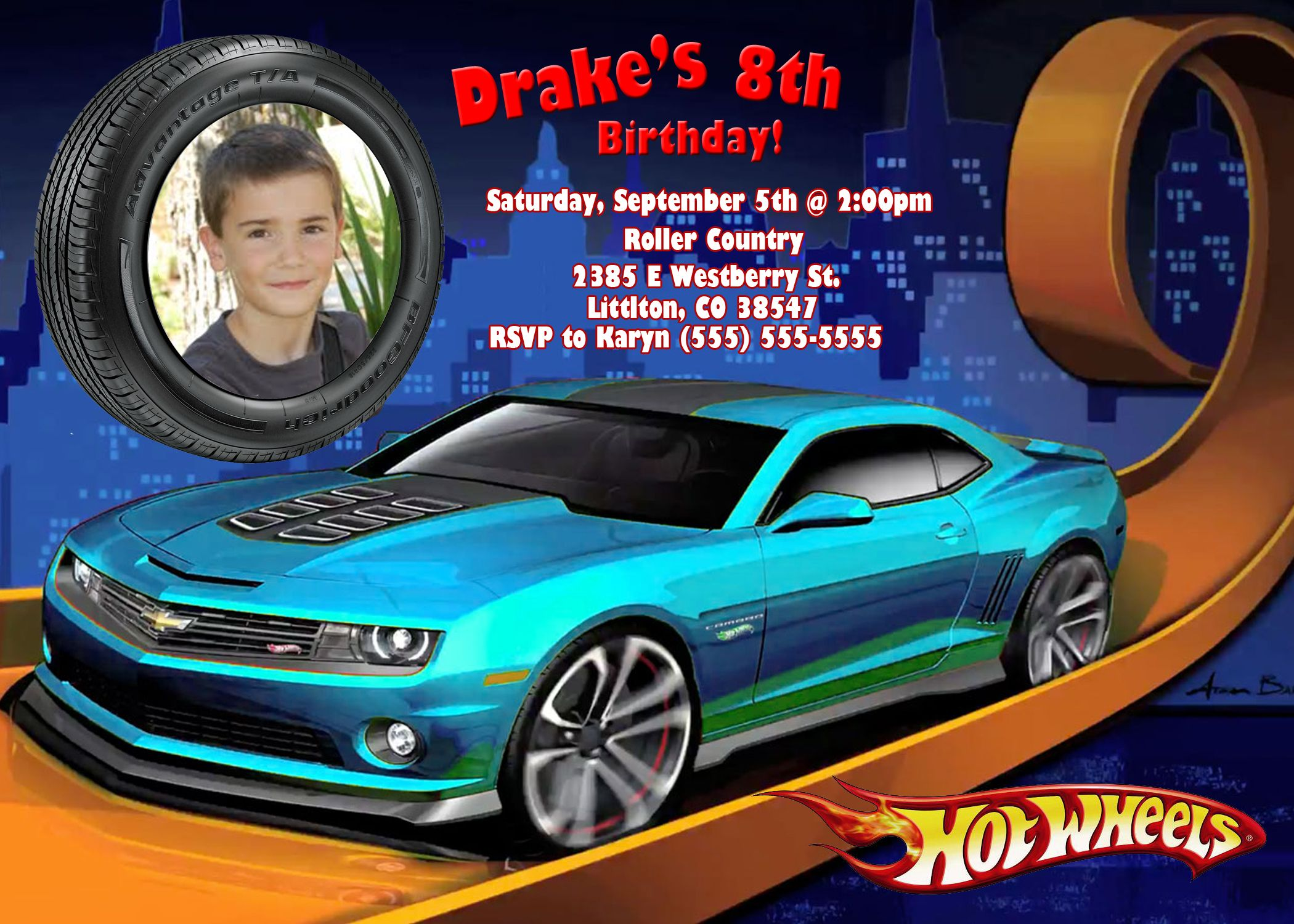 Nice Hot Wheels Birthday Invitations Download this invitation for ...