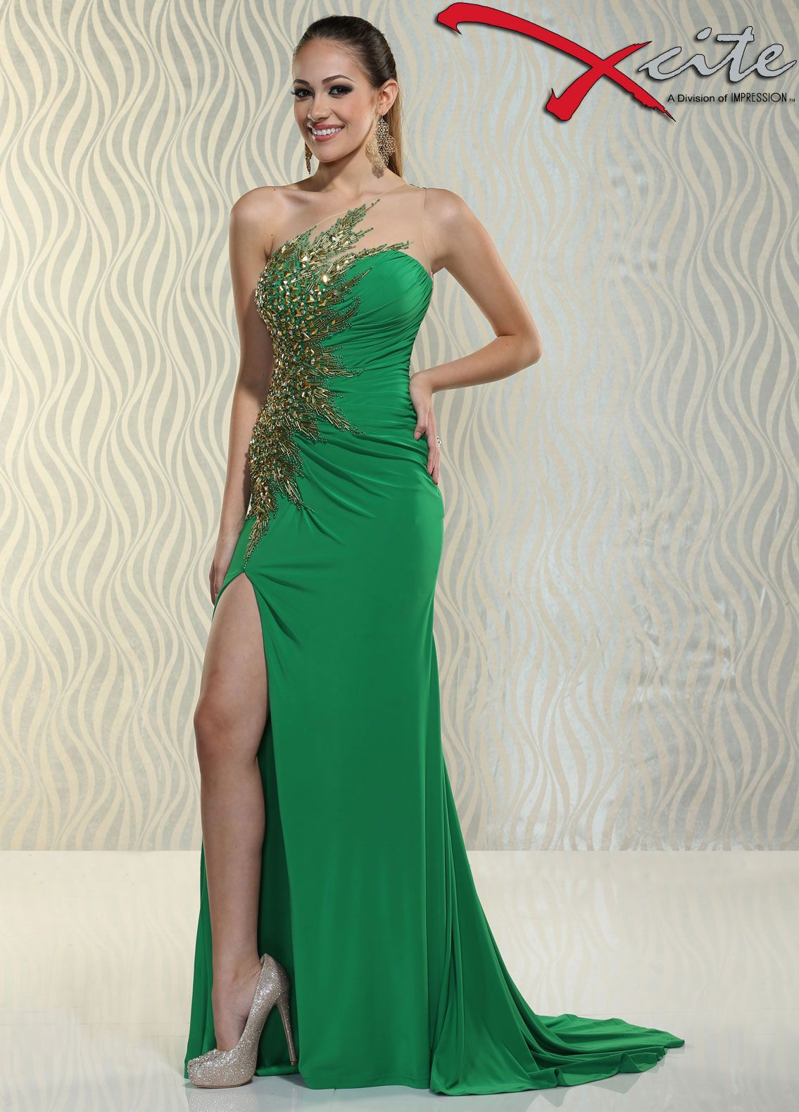 Gorgeous green prom dress  Xcite prom dress pageant dress formal gown evening gown  Fashion