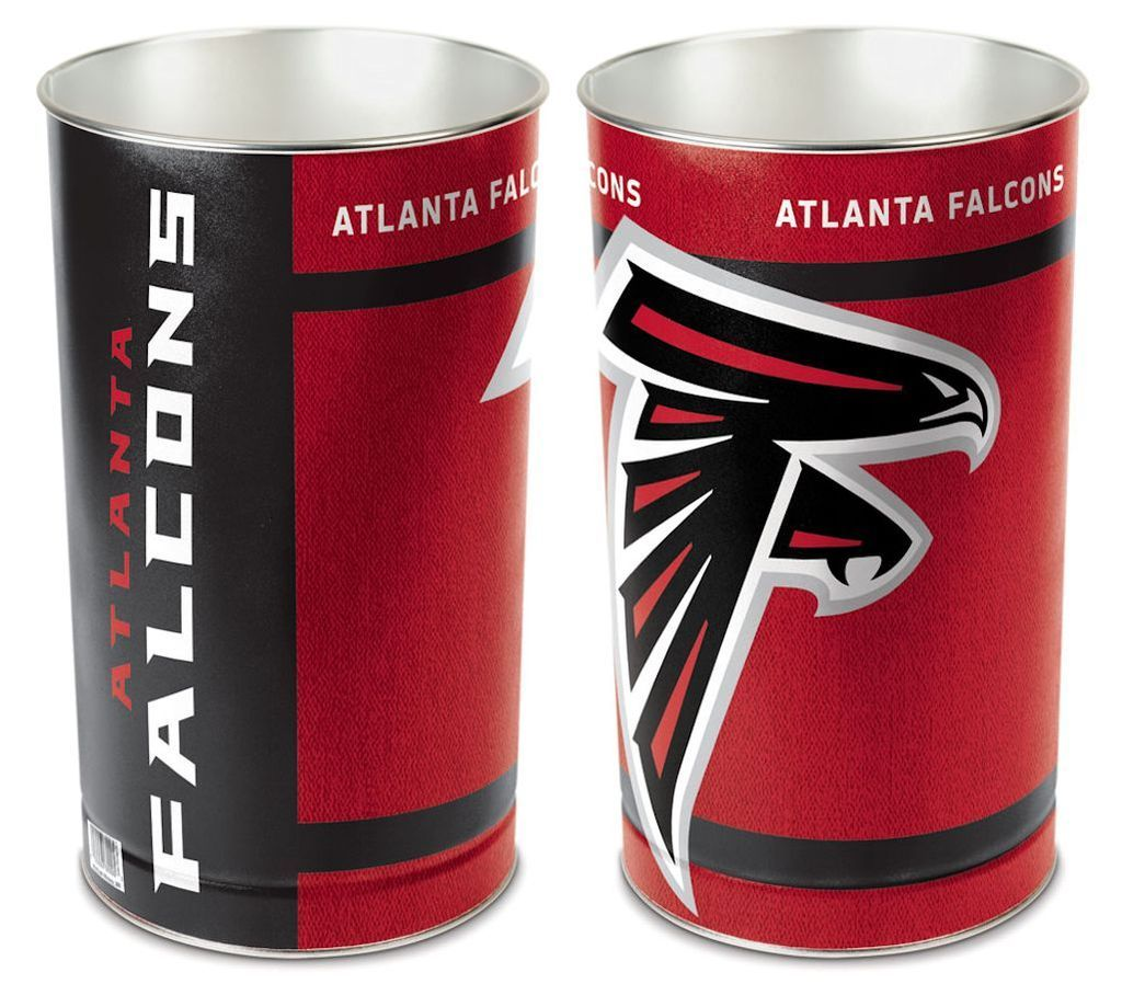 Atlanta Falcons Wastebasket 15 Inch Waste Basket Atlanta Falcons Falcons