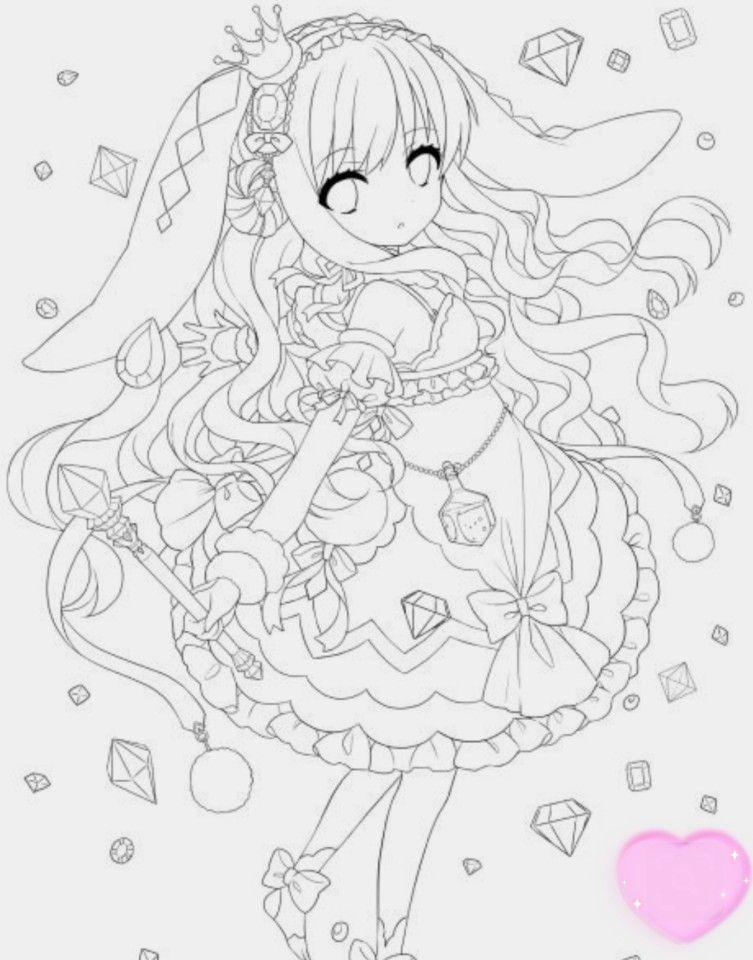 Anime おしゃれまとめの人気アイデア Pinterest A Arhuria 07 2020 塗り絵 塗り絵 かわいい イラスト 塗り絵