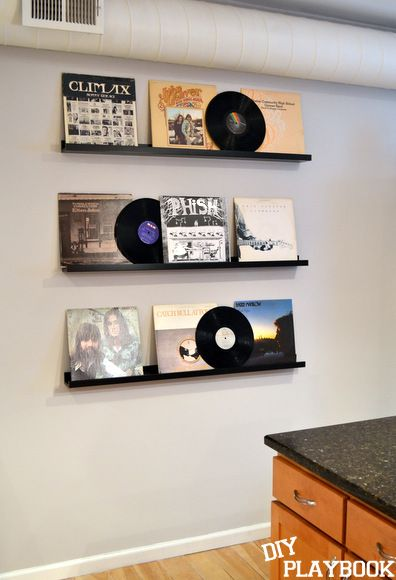 vinyl record storage gift for my brother the diy playbook projects pinterest vinyles. Black Bedroom Furniture Sets. Home Design Ideas