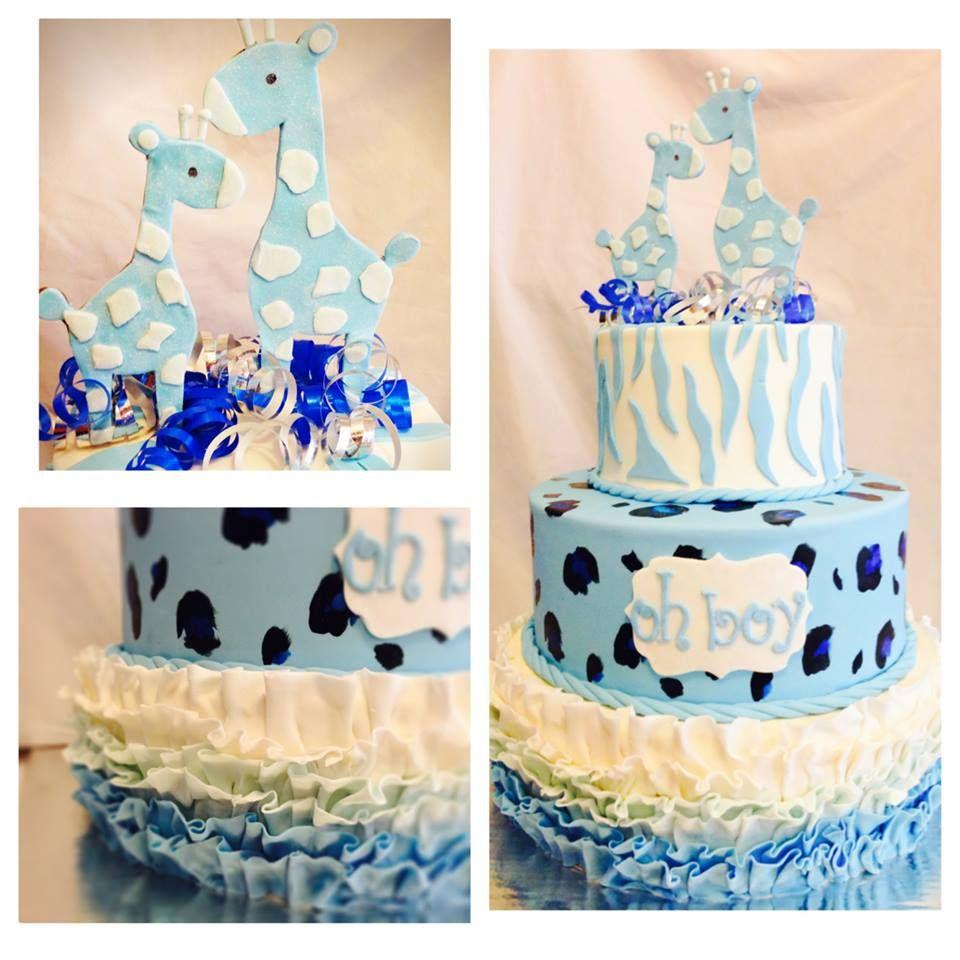 It's a Boy Blue Giraffe Baby Shower