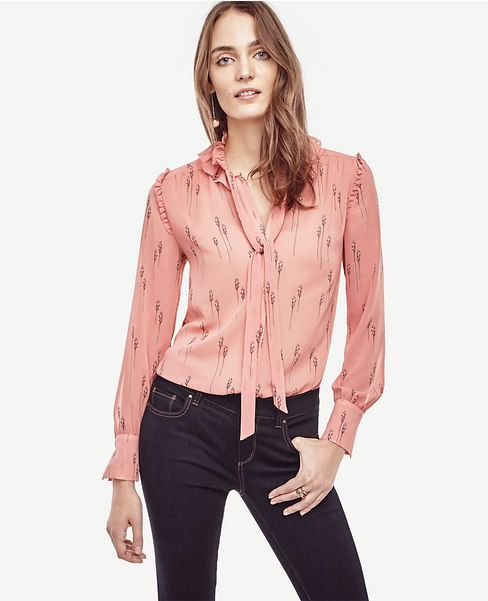 7e13b17084ff5e Primary Image of Leafy Ruffle Collar Blouse | online shopping ...