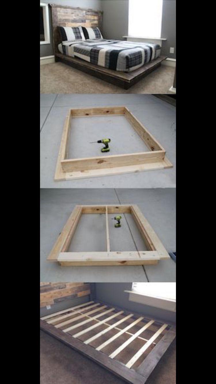 DIY bed frame   DIY   Pinterest   Camas, Bricolaje y Marcos