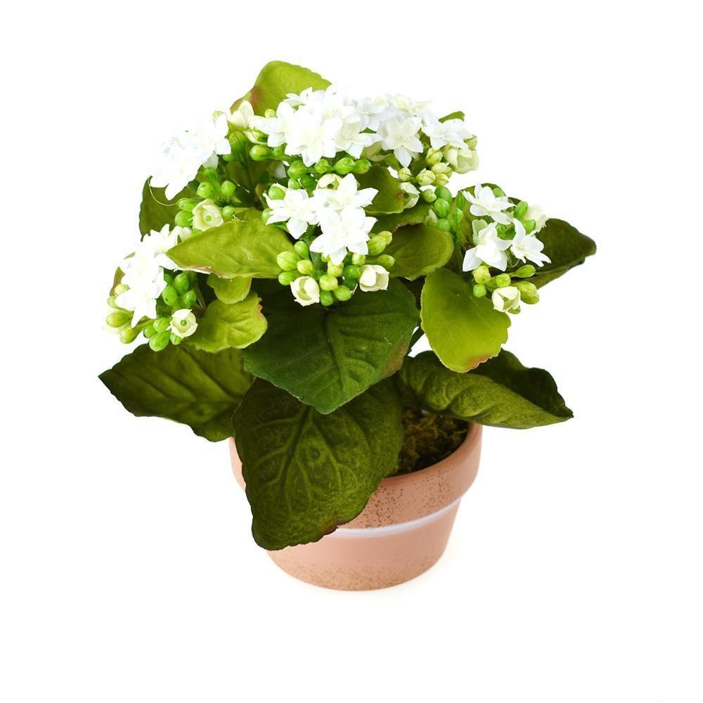 Artificial silk kalanchoe flower pot 8inch flower pots