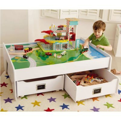 Large Play Table With StorageDrawers Home Kids Play