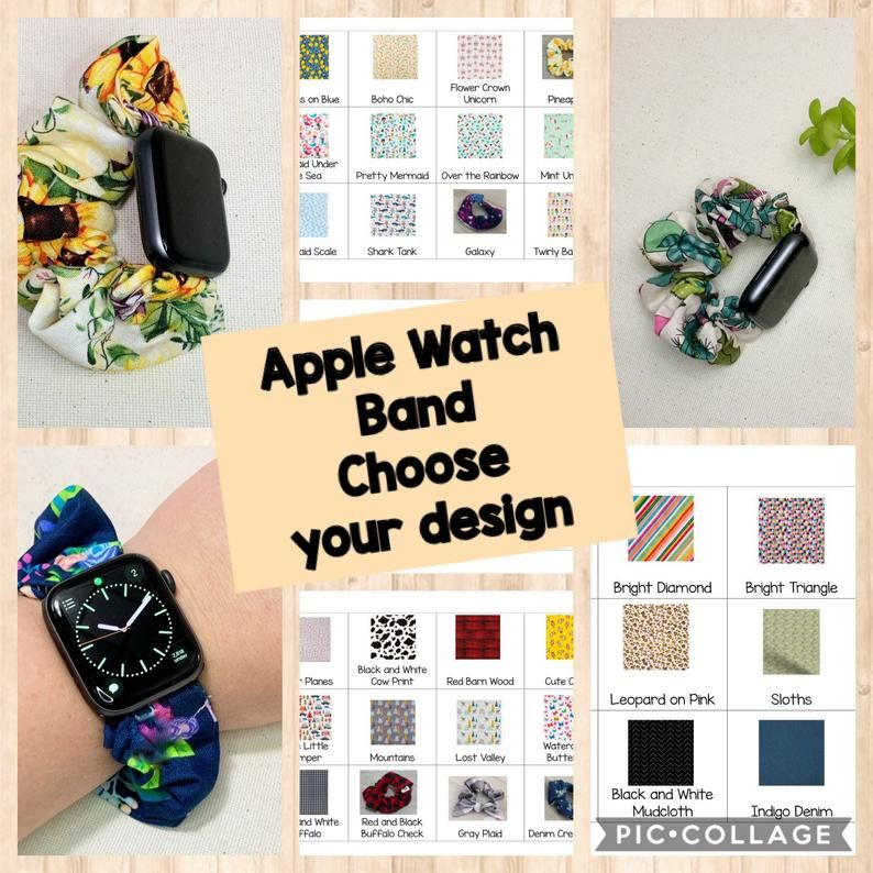 This Apple Watch Scrunchie Band That Is Made With Your Choice Of