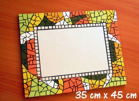 Mosaico De Espejos. Espejo En Decoupage Y Falso Mosaico With Mosaico ...