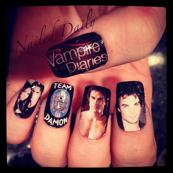 Vampire nail ideas the vampire diaries fan art spectacular team vampire nail ideas the vampire diaries fan art spectacular team damon nail design prinsesfo Gallery