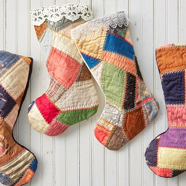 craft unique diy christmas stockings using old quilts includes instructions and christmas stocking pattern to create your own homemade holiday keepsake