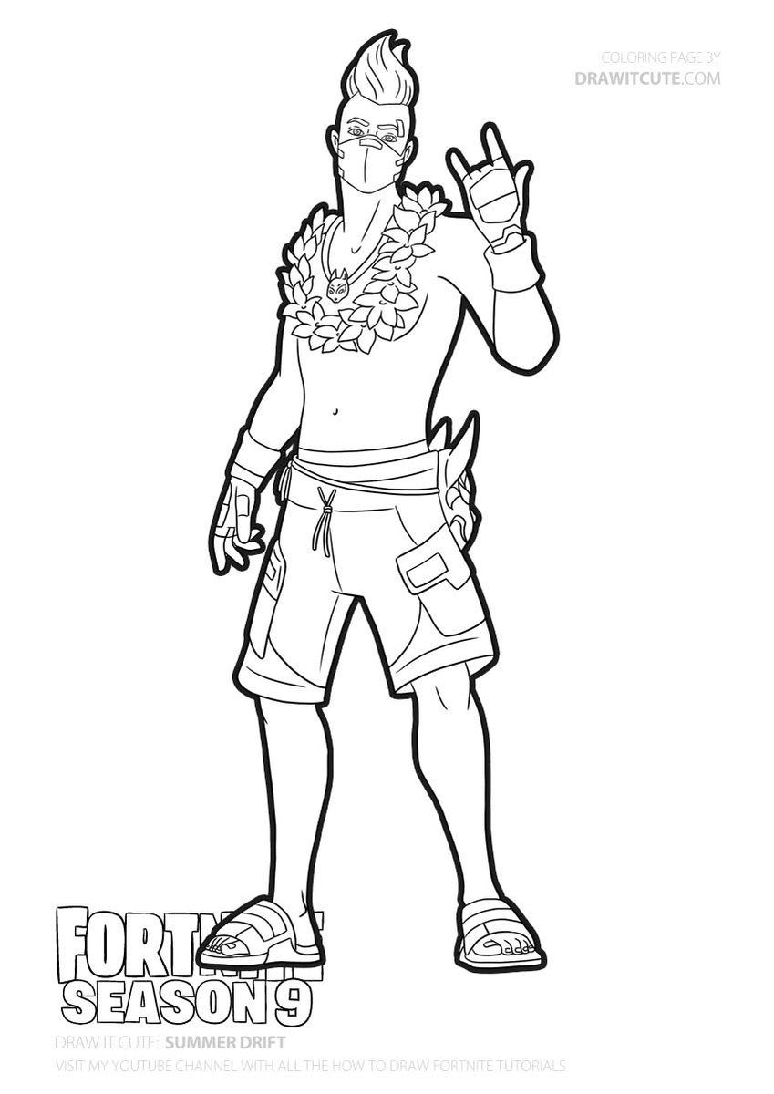 Fortnite Drift Coloring Pages