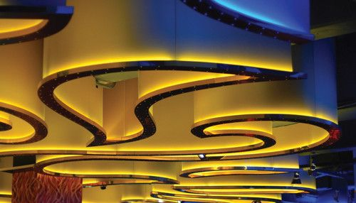 LED strip lighting and LED rope lights are great for accent lighting and is increasingly used for general illumination.