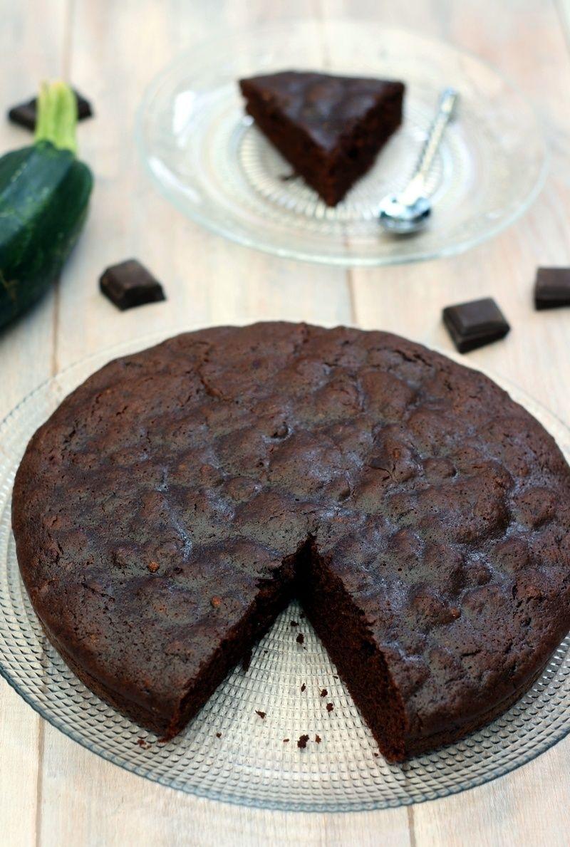 Gâteau au chocolat à la courgette (sans beurre) | Gateau ...