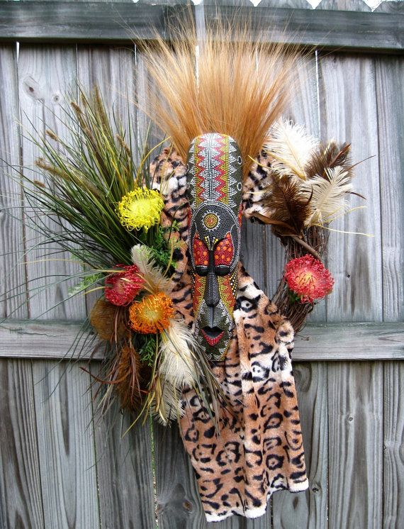 African Tribal Wreath, Zulu, Masai Warrior, by IrishGirlsWreaths, $149.99