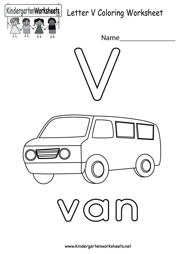 Letter V Alphabet Coloring Worksheet For Preschoolers Or Kindergarteners You Can Dow Letter V Worksheets Color Worksheets Coloring Worksheets For Kindergarten [ 1035 x 800 Pixel ]