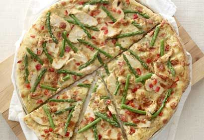 cuisine pizza light pinterest recette pizza asperges et le poulet. Black Bedroom Furniture Sets. Home Design Ideas
