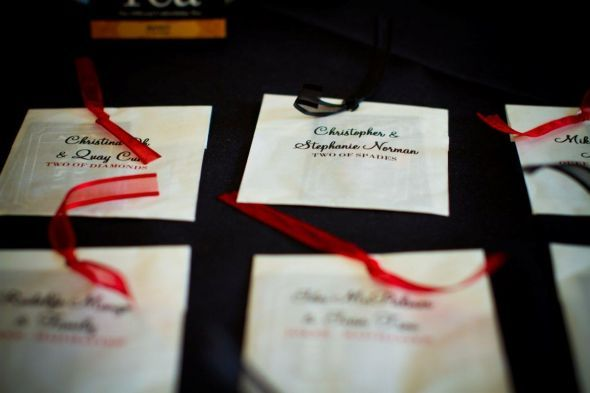 Favor bags turned escort cards
