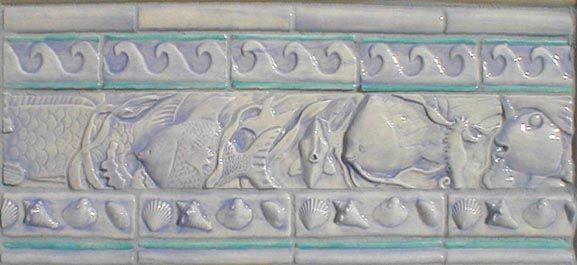 hand painted decorative tiles.htm fish border tile fish decorative border tile  shells www  fish border tile fish decorative