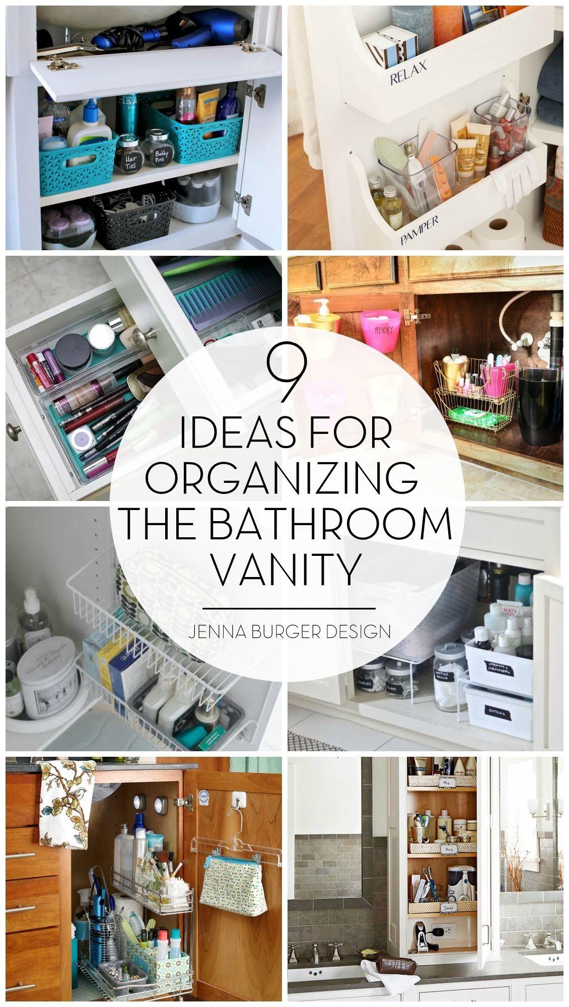 BATHROOM ORGANIZATION: Organizational ideas + tips for the bathroom ...