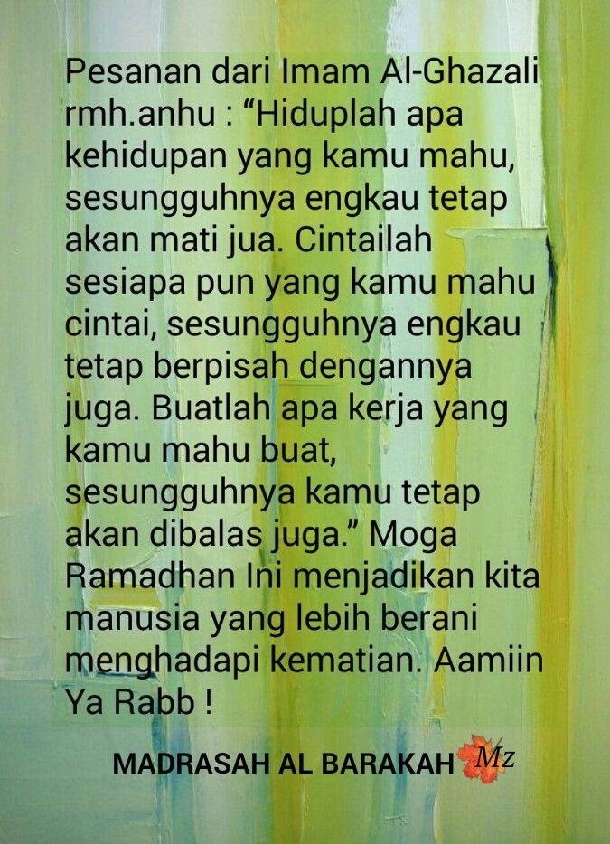 Hikmah Pesanan Imam Al Ghazali Rmh Hikmah Pinterest Al