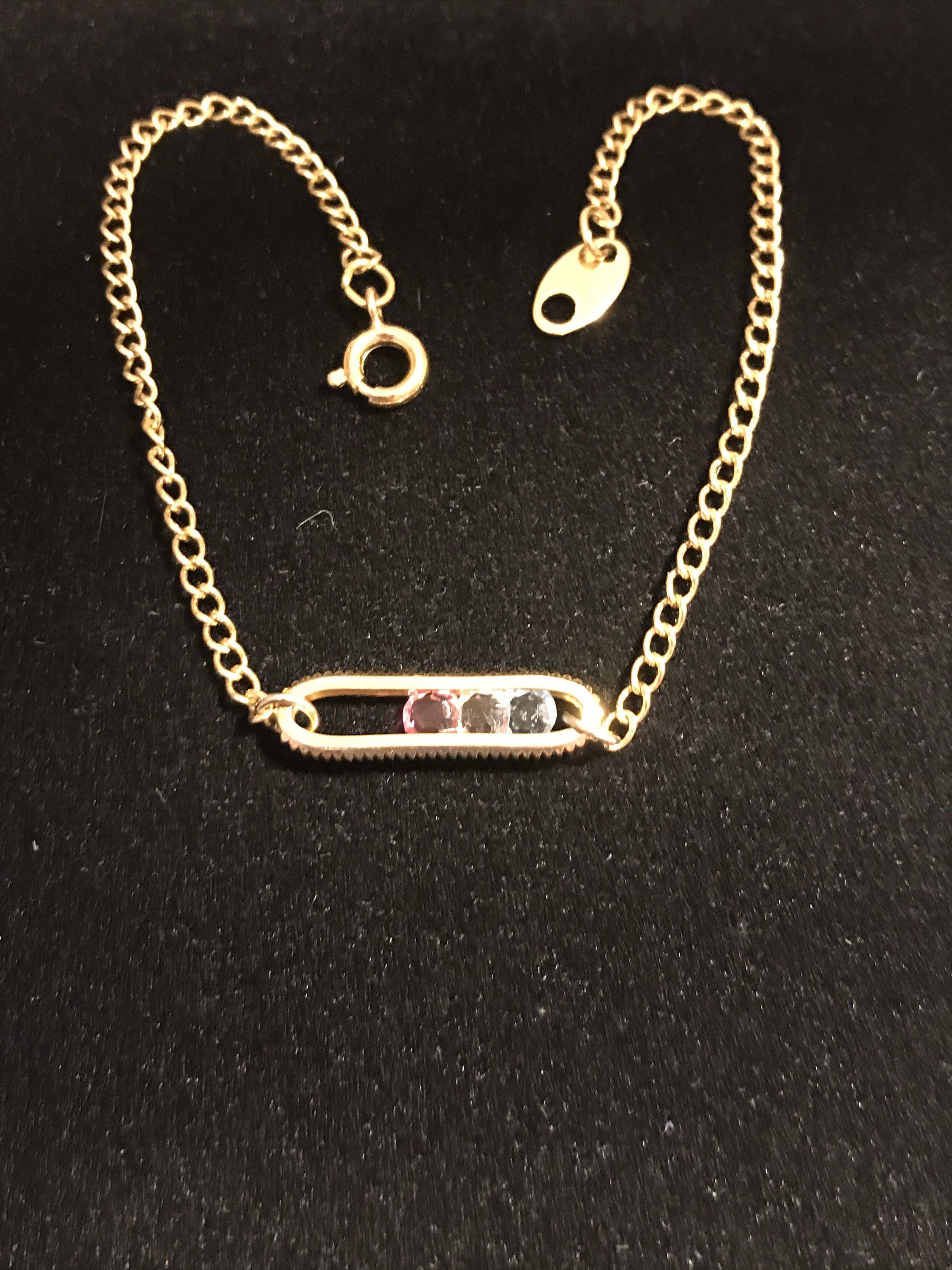 Avon Vintage Goldtone Chain And Sliding Crystal Bracelet In 2020 Crystal Bracelets Avon Jewelry Gold Tones