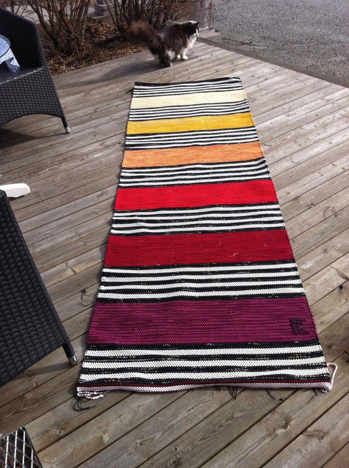 Rag Rug By Kristina Walsten Weaving Art Loom Hand Designs