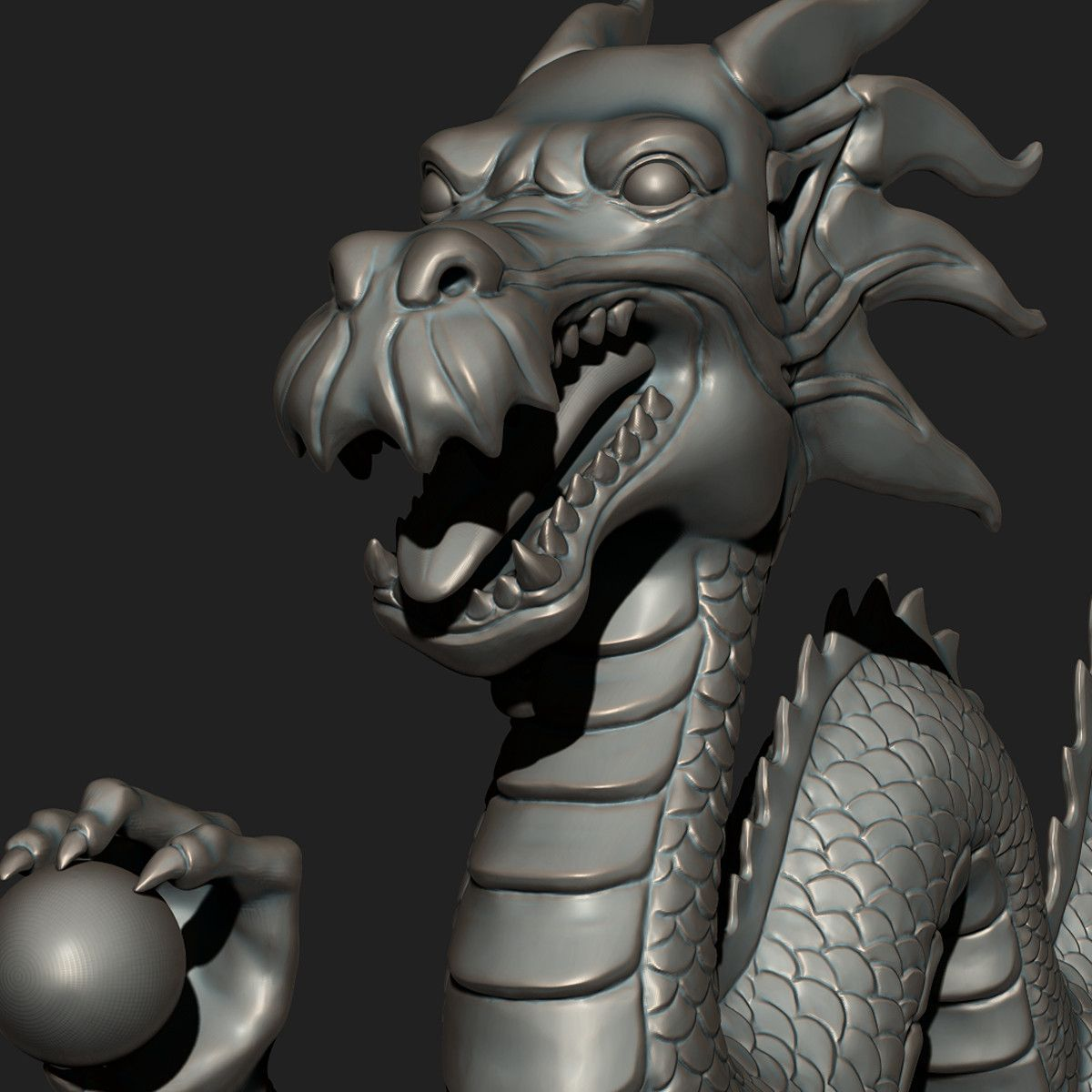 asian chinese dragon zbrush 3ds Chinese dragon, Zbrush