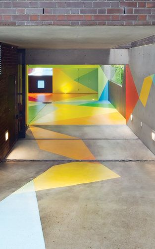 Why Shouldn't A Parking Garage Be A Graphic Funhouse?   Parking design, Floor graphics, Garage ...