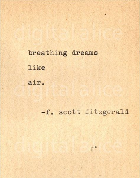 Photo of VINTAGE TYPEWRITER PRINT f Scott Fitzgerald Quote -Wall Art Instant Download-bre…