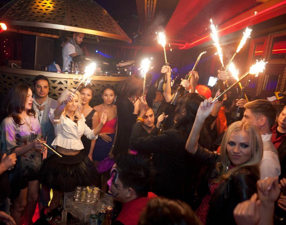 Kimberly Wyatt parties hard at Cirque Du Soir Dubai!