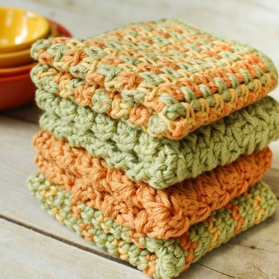 Crochet Dishcloths … 4 Quick and Easy Crochet Dishcloth Patterns ...
