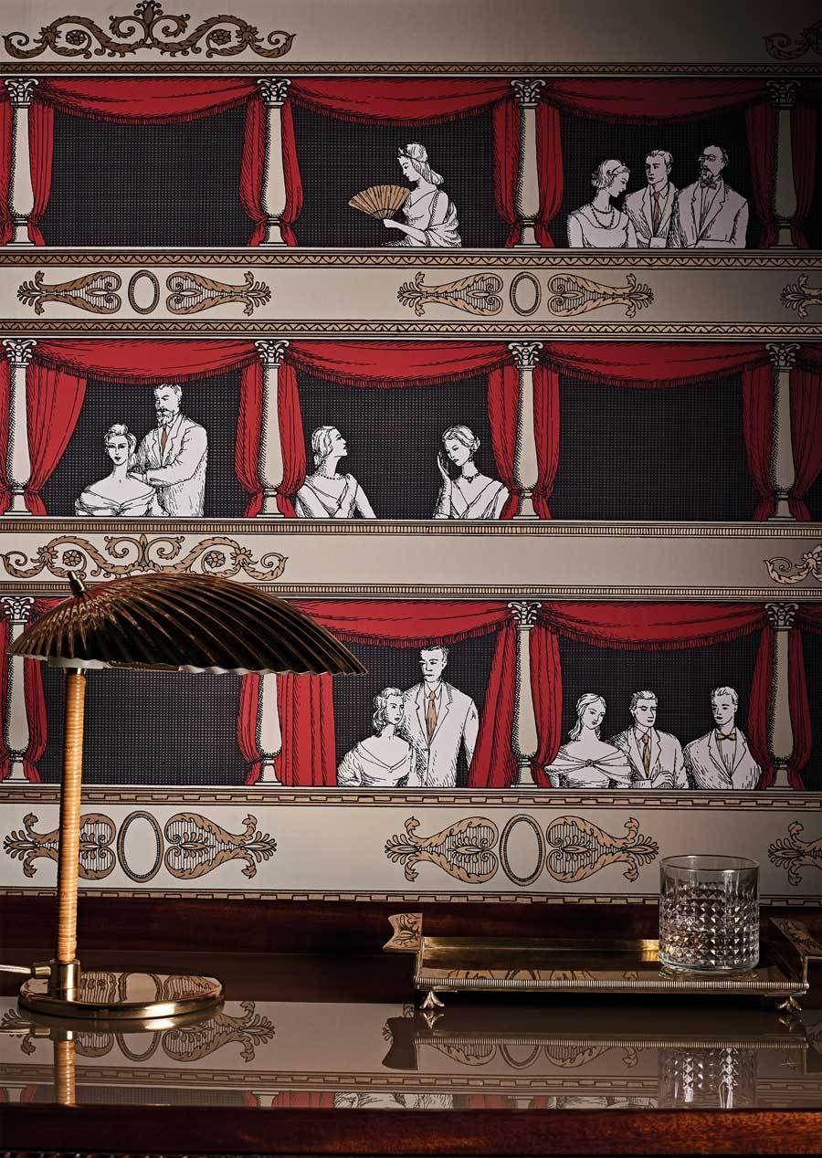 Teatro Wallpaper Fornasetti Senzo Tempo Collection