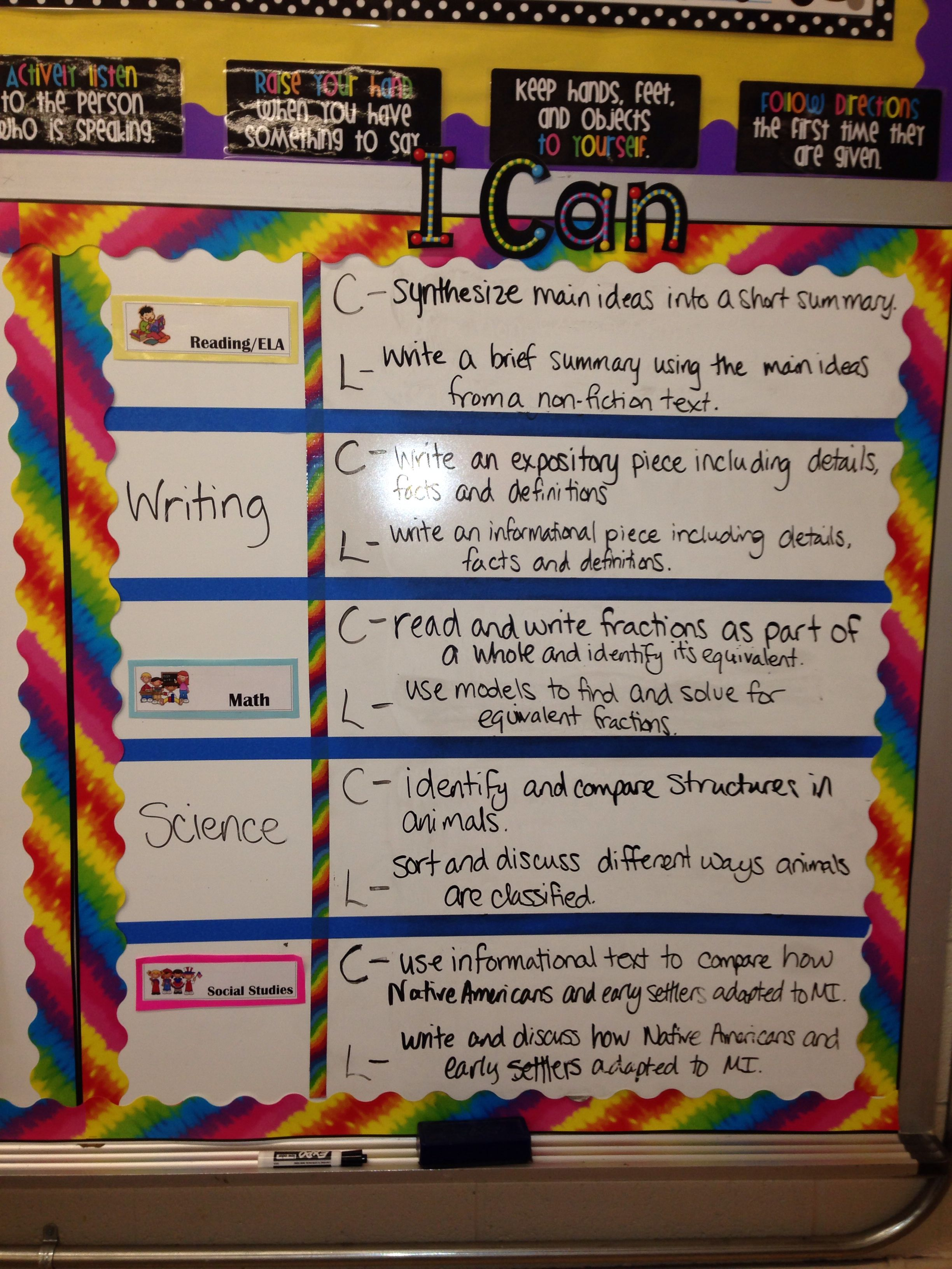 I Can Statements For Both Content And Language Objectives Language Objectives Classroom Objectives Teaching Classroom How to write learning objectives