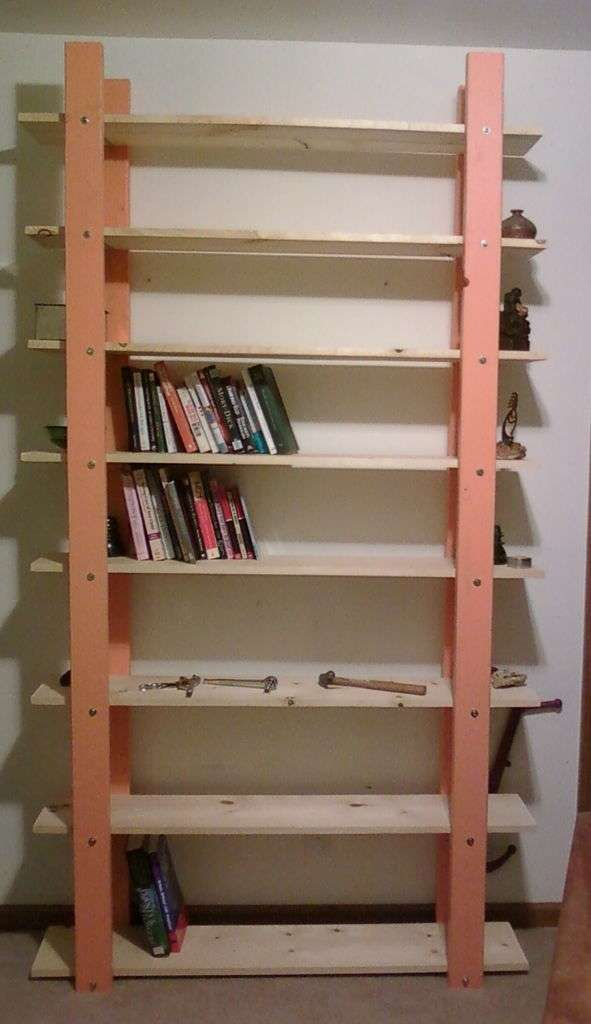 2x4 bookshelf that looks nicer crafts in 2019 diy bookshelf rh pinterest com
