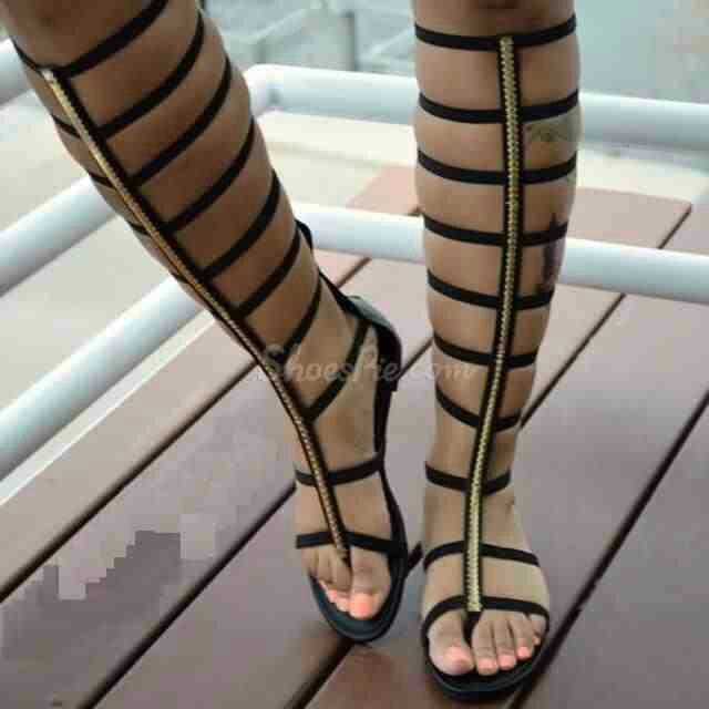 42afdd97502 Ladies this is how Gladiator Sandals should look....if you have skinny legs  not a good look!