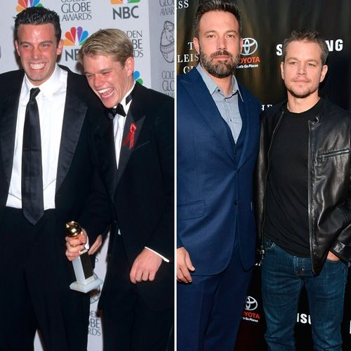 See Ben Affleck And Matt Damon Plus More Celebrity Best Friends Then And Now Closer Weekly Celebrity Best Friends Matt Damon Matt Damon Ben Affleck