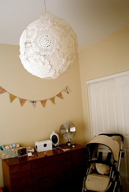 doily lamp how to