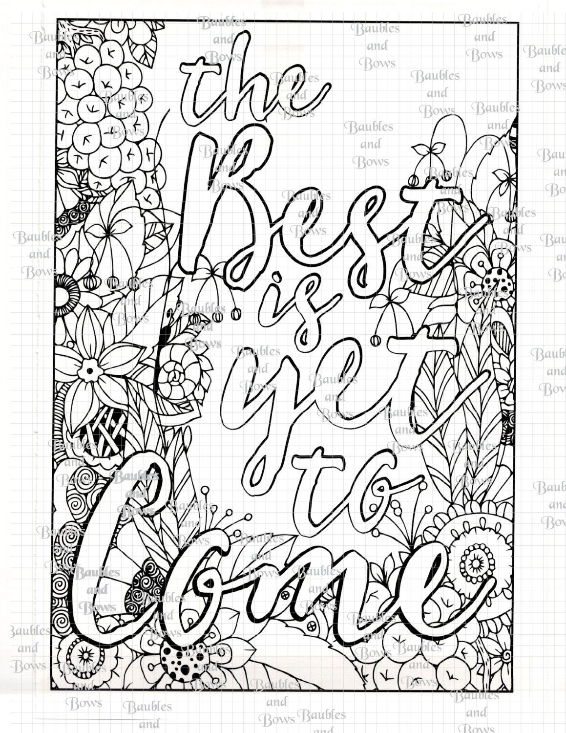 Best mandala coloring pages - Best Is Yet To Come Printable Adult Mandala Coloring By Sewlacee