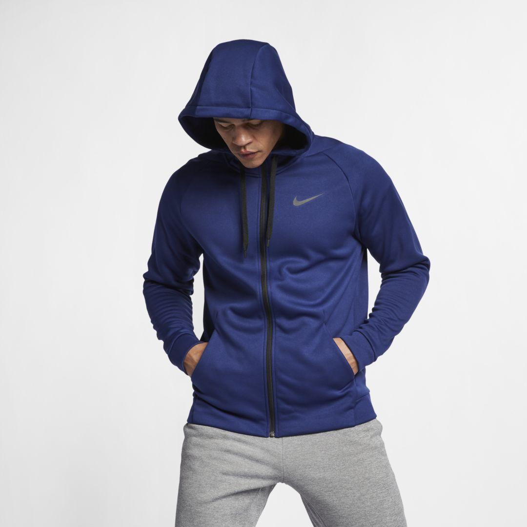 Drifit therma mens fullzip training hoodie nike dri