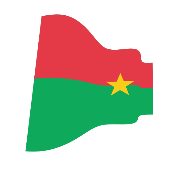 Waving Flag Of Burkina Faso Burkina Flag Free Clip Art