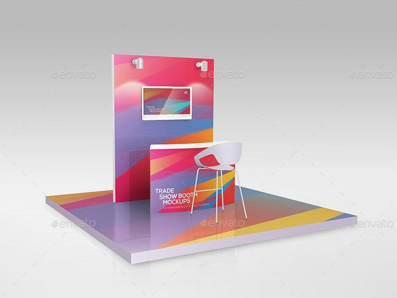 Trade Exhibition Stand Mockup Free : Trade show booth mockups free psd pinterest