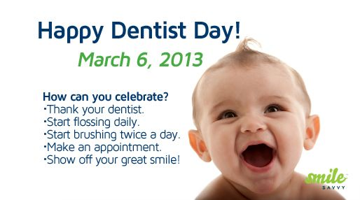 Happy Dentist Day!    Re-pin and show your dentist some love! :)