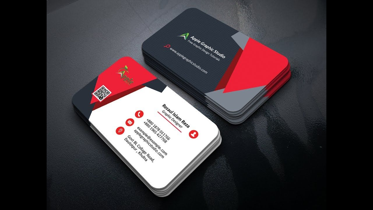How to Make a Creative Business Card Design in Photoshop | Business ...