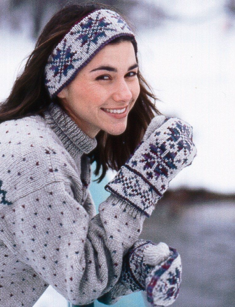Fair Isle Ski Band And Mittens in Patons Classic Wool Worsted ...