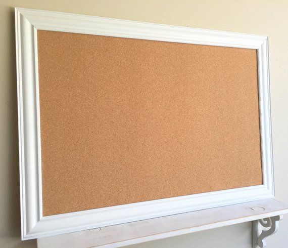 White Cork Board Wall Calendar Holder Large Jewelry Organizer Mail
