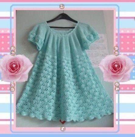 Crochet dress for baby